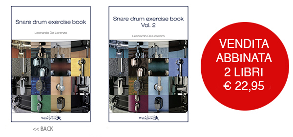 Copertina di SNARE DRUM EXERCISE BOOK VOL.1 + VOL.2